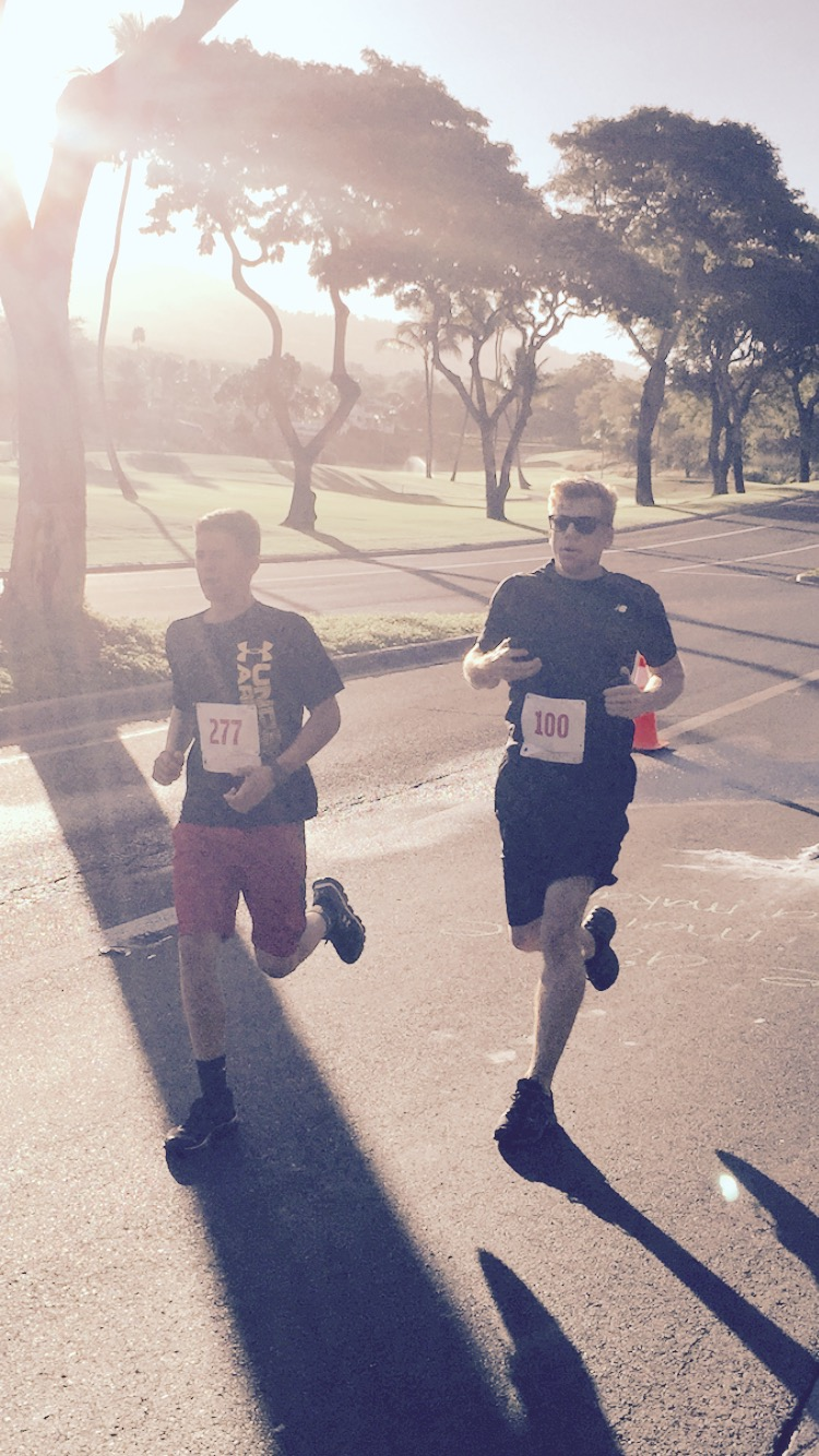 Markus Diersbock & Jake Luther - Run for Hop 5K, Four Seasons Resort, Maui, HI 2015